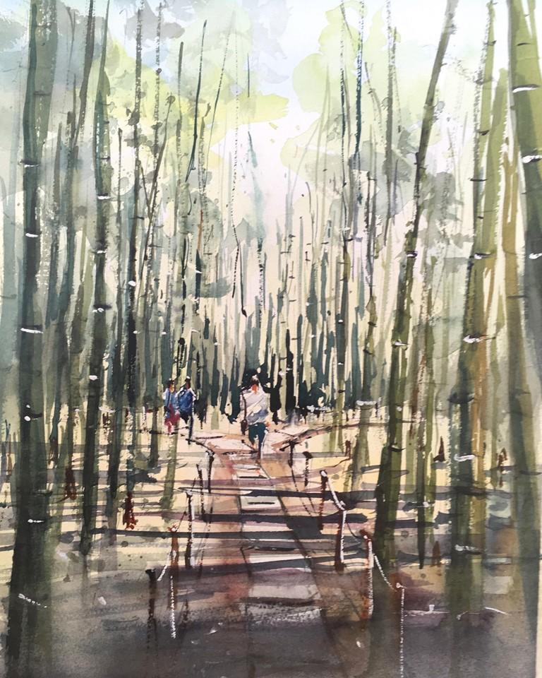 夏の竹林(報国寺)