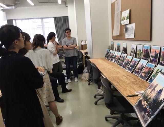 日大藝術学部デザイン学科で講座しました。(2019年頃)