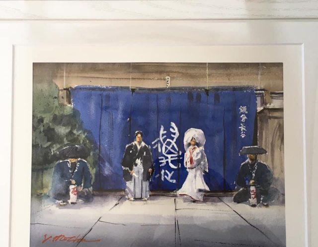 結婚式のウェルカムボードを描かせていただきました。